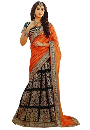 c2a0b0659e Georgette Bollywood Wedding Saree Indian Ethnic Party Wear Sari Designer  Dress: Amazon.co.uk: Clothing