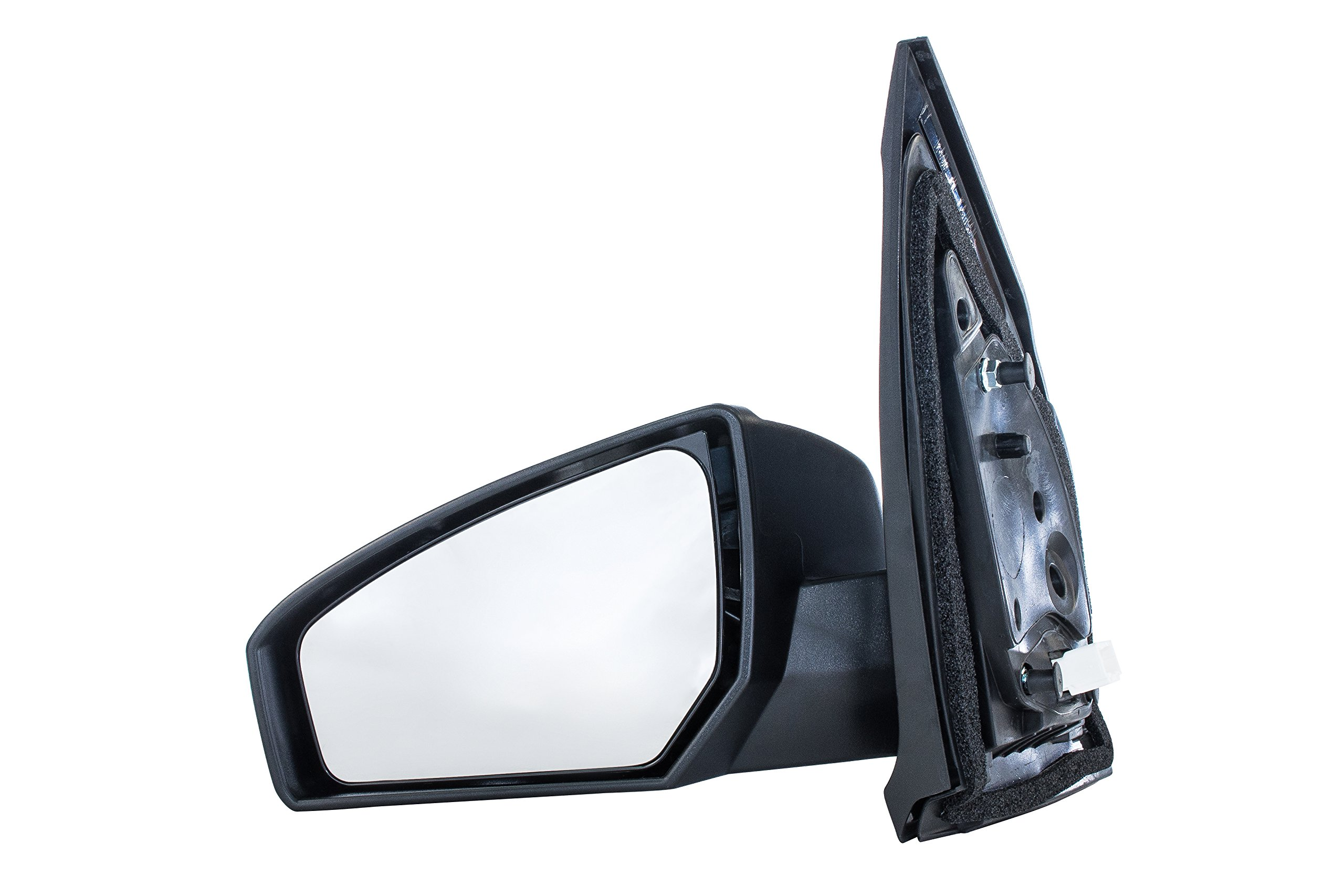 Dependable Direct Left Driver Side Black Non-Folding Non-Heated Power Operated Door Mirror for Nissan Sentra (2007 2008 2009 2010 2011 2012)
