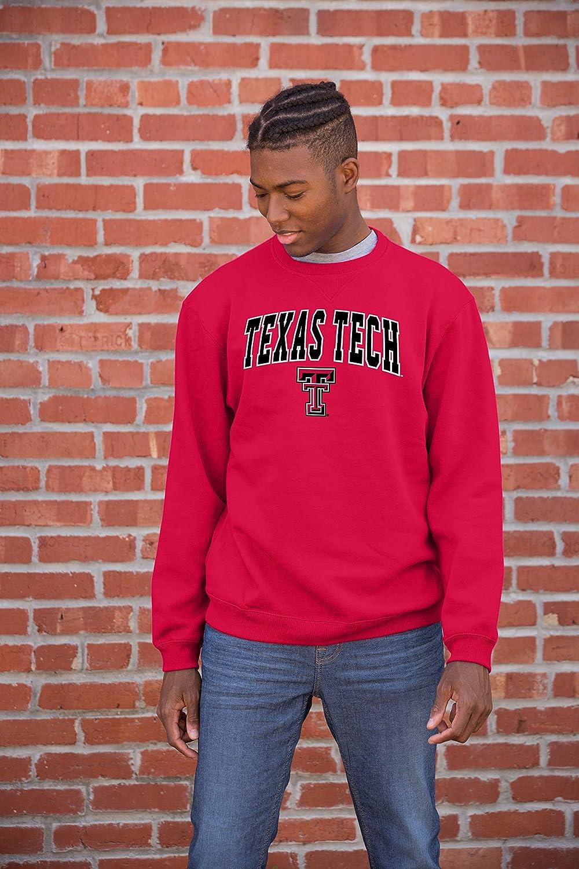 Red NCAA Texas Tech Red Raiders Mens Team Color Crewneck Sweatshirt Large