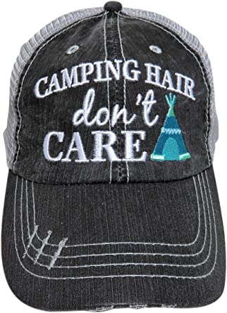 I Love Camping Hat My Happy Place District Distressed Dad Cap