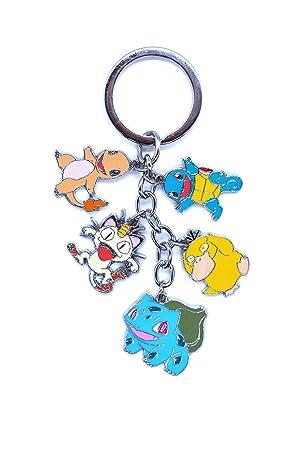 Anime Domain Llavero de Pokemon con 5 Figuras Chibi: Amazon ...