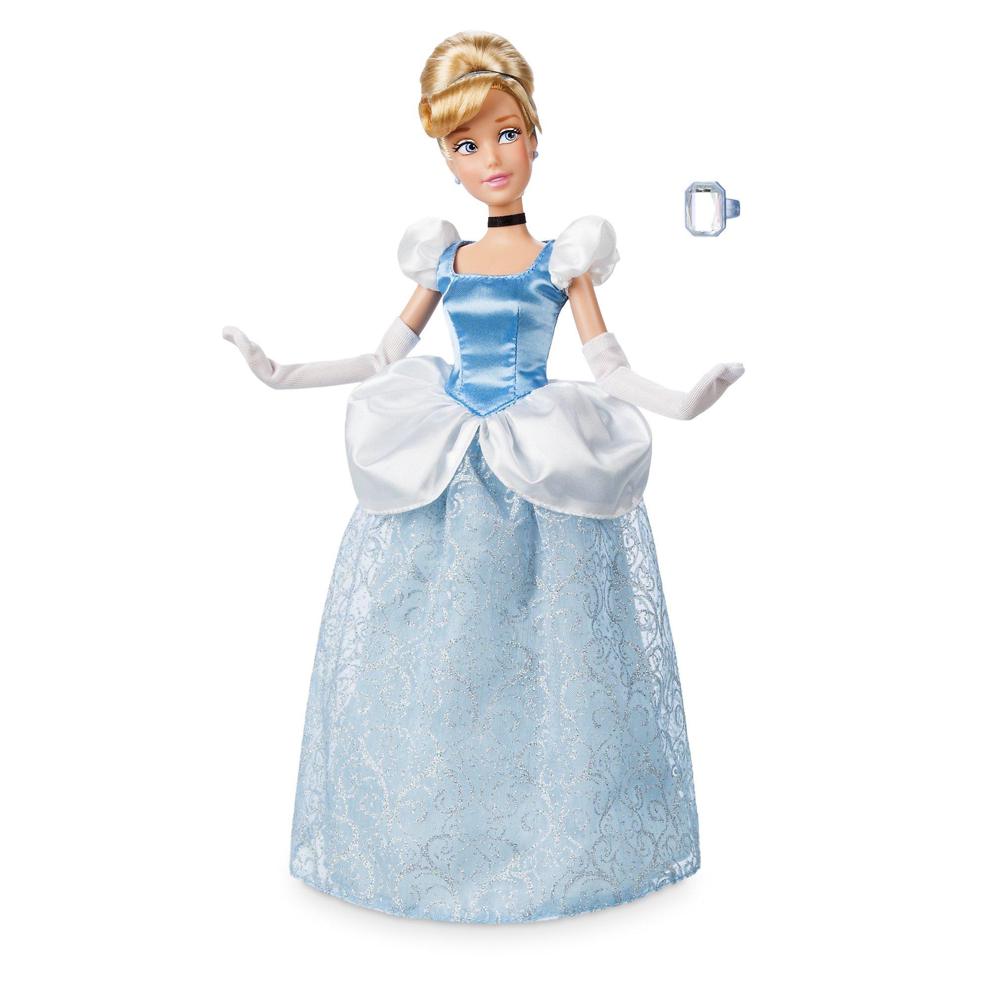 Disney Store Princess Cinderella Classic Doll w// Gus Girls Poseable Figure Toy