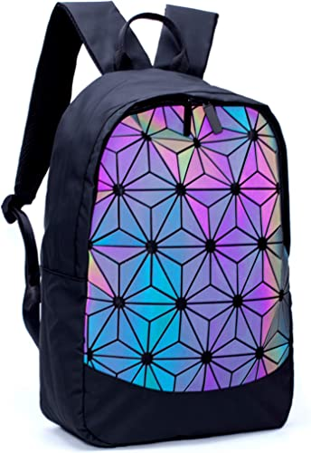 Geometric Backpack Holographic Luminous Backpacks Reflective Bag Luminesk Irredescent Rucksack Luminous 02
