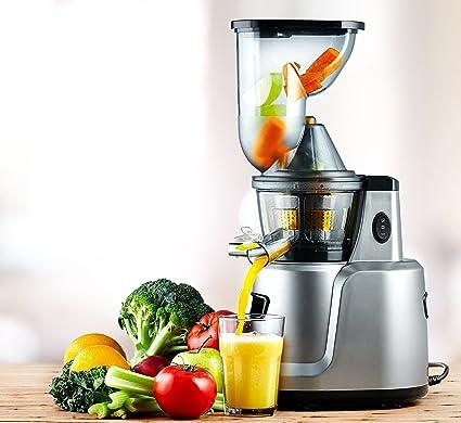 cookmania. – Slow Juicer sin BPA con potente motor de inducción para zumos, Batidos