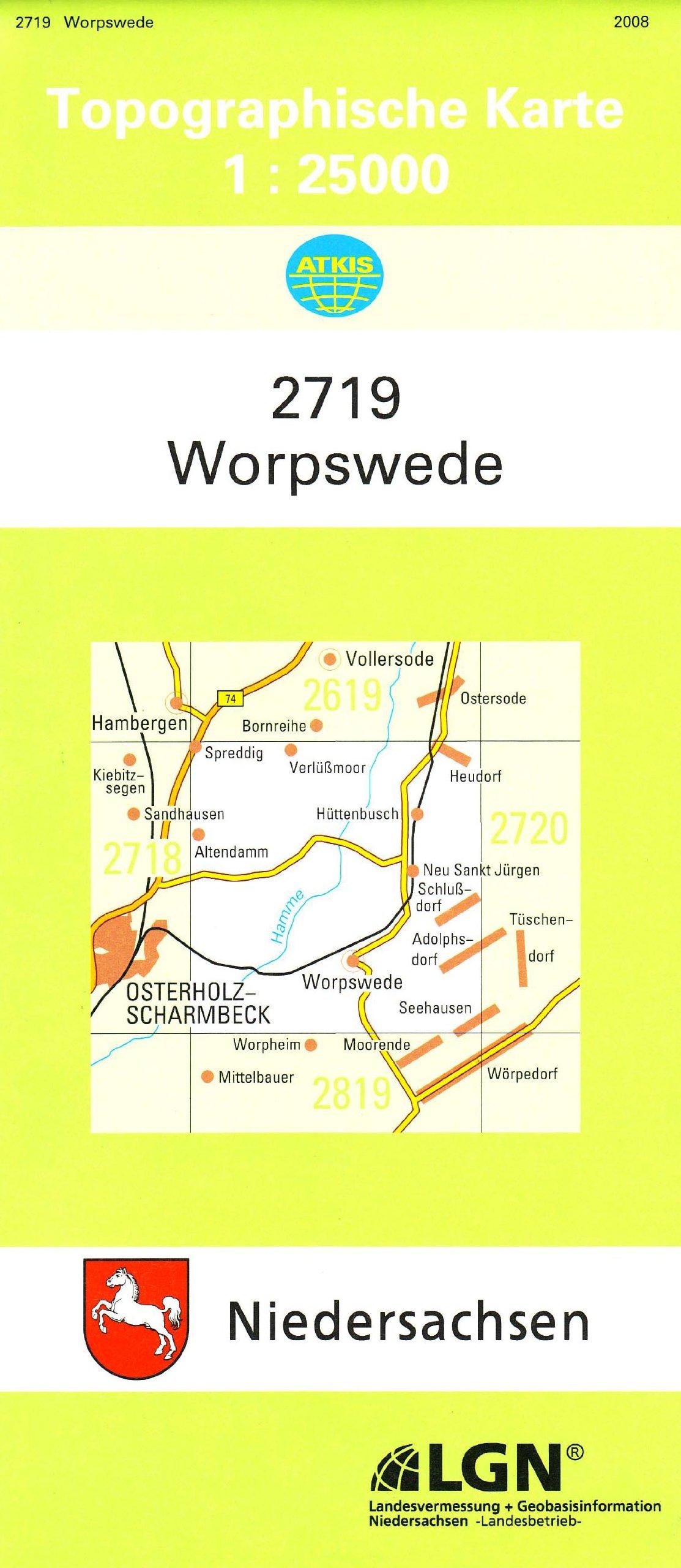 Worpswede (N) Landkarte – 1. Dezember 2015 3894351144 Karten Stadtpläne Deutschland