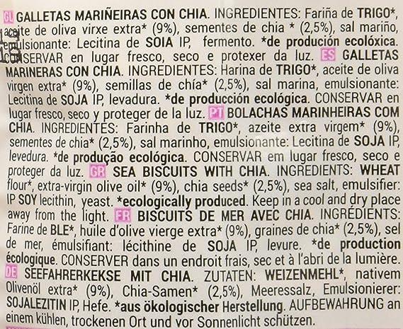 Galleta Marinera Bio con Semillas de Chía y Aceite de Oliva Extra ...