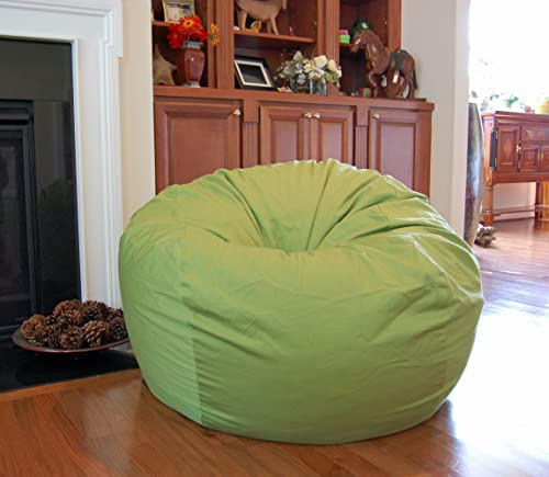 Ahh Products Lime Green Organic Cotton Washable Large Bean Bag Chair