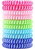 Mosquito repellent bracelets, 10 days of protection per band, safe for kids, waterproof, non toxic no deet, bug and insect citronella repellent bands, perfect for camping hiking, multicolor, one size fits all (10 pack)