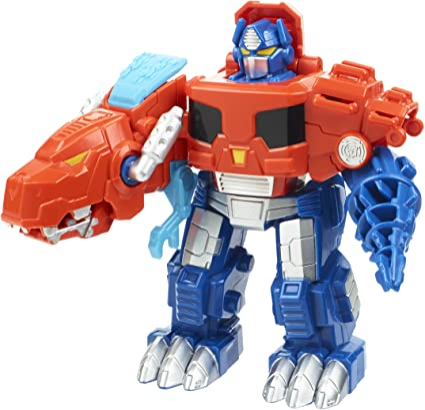 Transformers Rescue Bots Optimus Prime T-Rex Dino Dinosaur Figure FREE SHIPPING