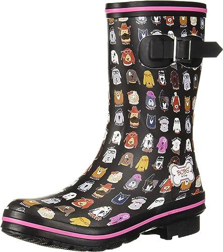 Skechers Bobs Women's Rain Check April Showers Boot, BKMT, 5
