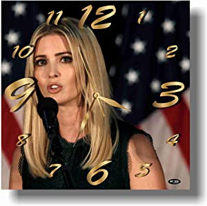 ART TIME PRODUCTION Ivanka Trump 11'' Handmade Wall Clock - Get Unique décor for Home or Office – Best Gift Ideas for Kids, Friends, Parents and Your Soul Mates