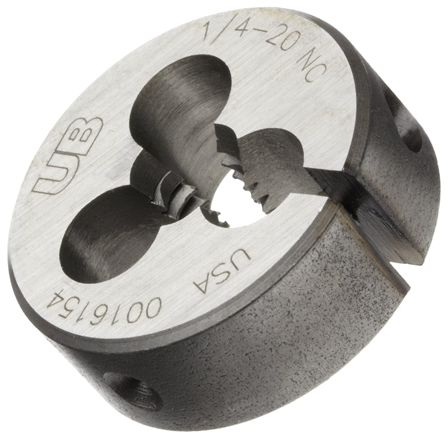 Bright UNC Union Butterfield 2010 Finish 1//4-20 Thread Size 1 OD 1//4-20 Thread Size Precision Dormer 1410064 Carbon Steel Round Threading Die 1 OD Uncoated