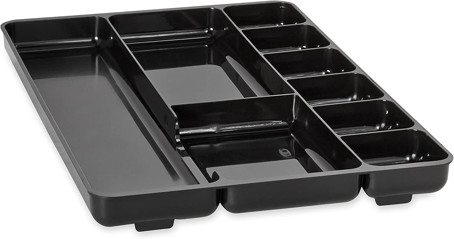 Rubbermaid Regeneration 48-Section Drawer Organizer, Plastic, 48 x 48.48 x  48.48 Inches, Black (48)