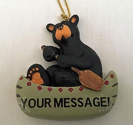amazon com bearfoots bear customizable bear canoe paddle ornament