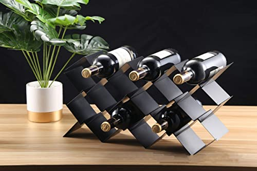 Fantasee Free Standing Metal Wine Rack