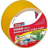 tesa Bevestiging bodem – dubbelzijdig, Xtra sterk voor onregelmatige vloeren, geel.