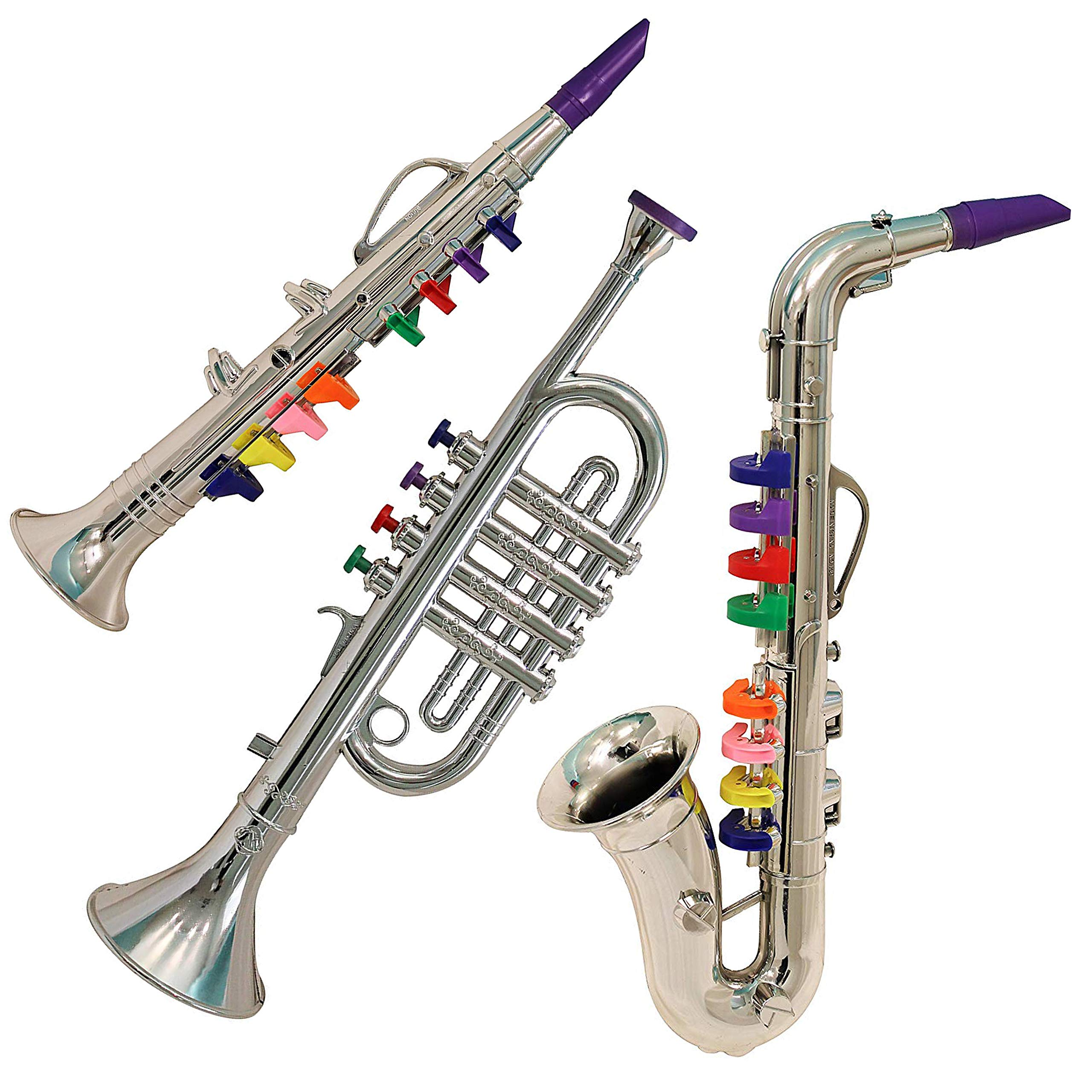 IQ Toys Junior Band 3-Piece Instrument Set (Clarinet, Saxophone, Trumpet) by IQ Toys