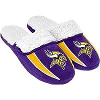 $24 » FOCO NFL Mens Team Logo Sherpa Slippers