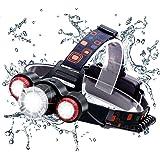 Wsiiroon LED ヘッドライト USB充電 乾電池両用 ヘッドランプ 高輝度 軽量 ズーム機能付き 角度調整可能 登山 夜釣り アウトドア作業に最適