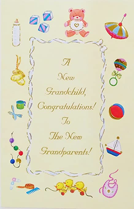Amazon a new grandchild congratulations for the grandparents a new grandchild congratulations for the grandparents greeting card quotwhat a joy m4hsunfo