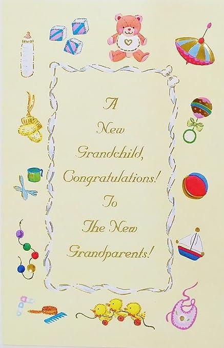 Amazon Com A New Grandchild Congratulations For The Grandparents