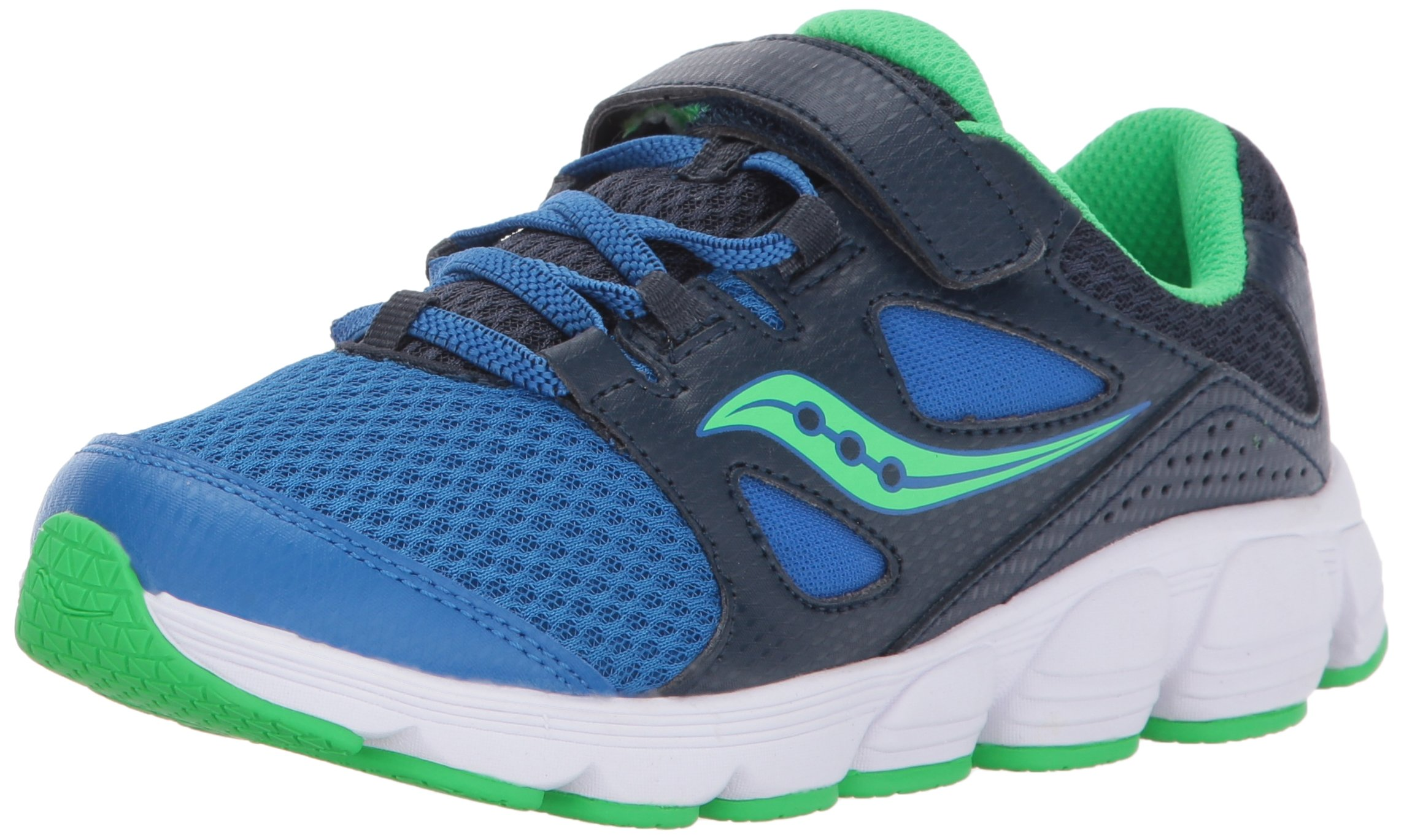 Saucony Kotaro 4 A/C Sneaker (Little Kid/Big Kid), Navy/Green, 13 M US Little Kid