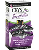 CRYSTAL BODY DEODORANT Towelettes - Unscented - 48 Pack