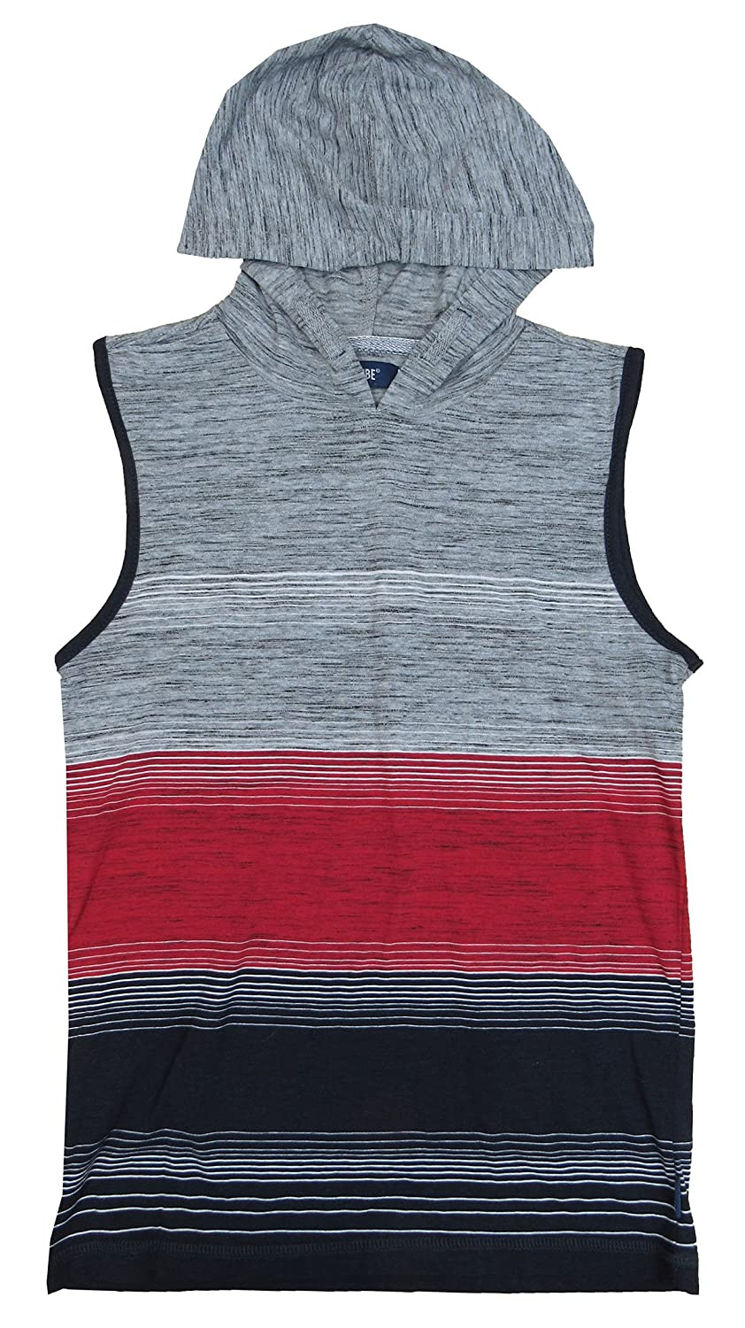 Univibe Big Boys Colorblocked Stripe Hooded Tank Top Medium 8-20