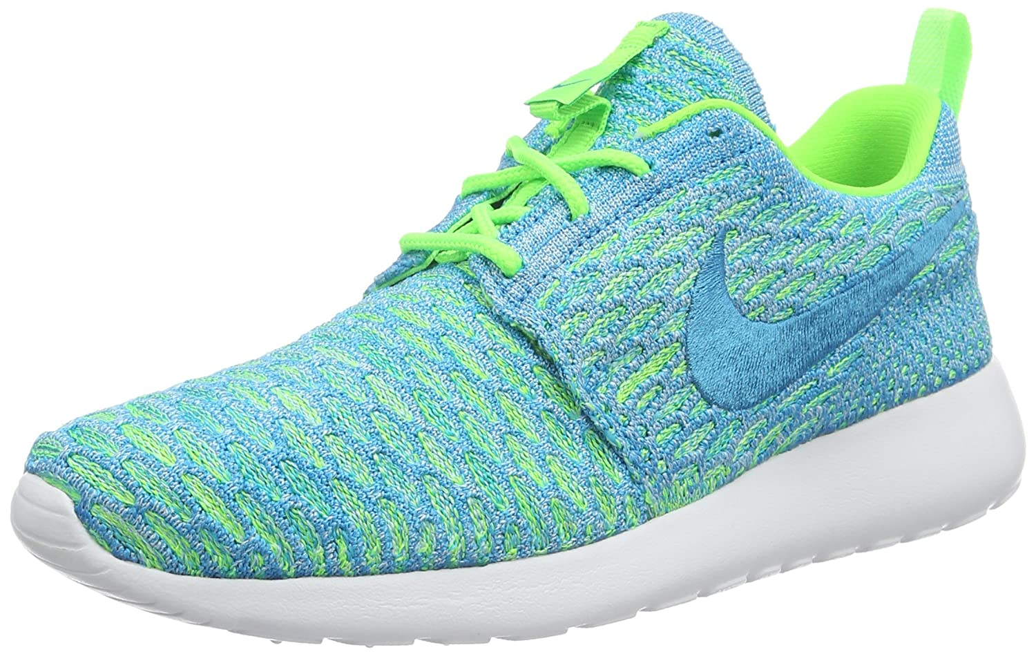NIKE Womens Roshe One Flyknit Flyknit Colorblock Running Shoes B008J19K8K 6.5 B(M) US|Green