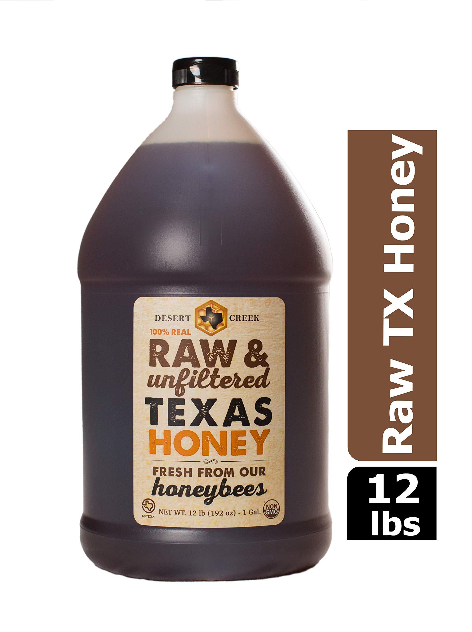 Desert Creek - Raw Honey, Natural Premium and Pure Texas Product - 1 Gallon