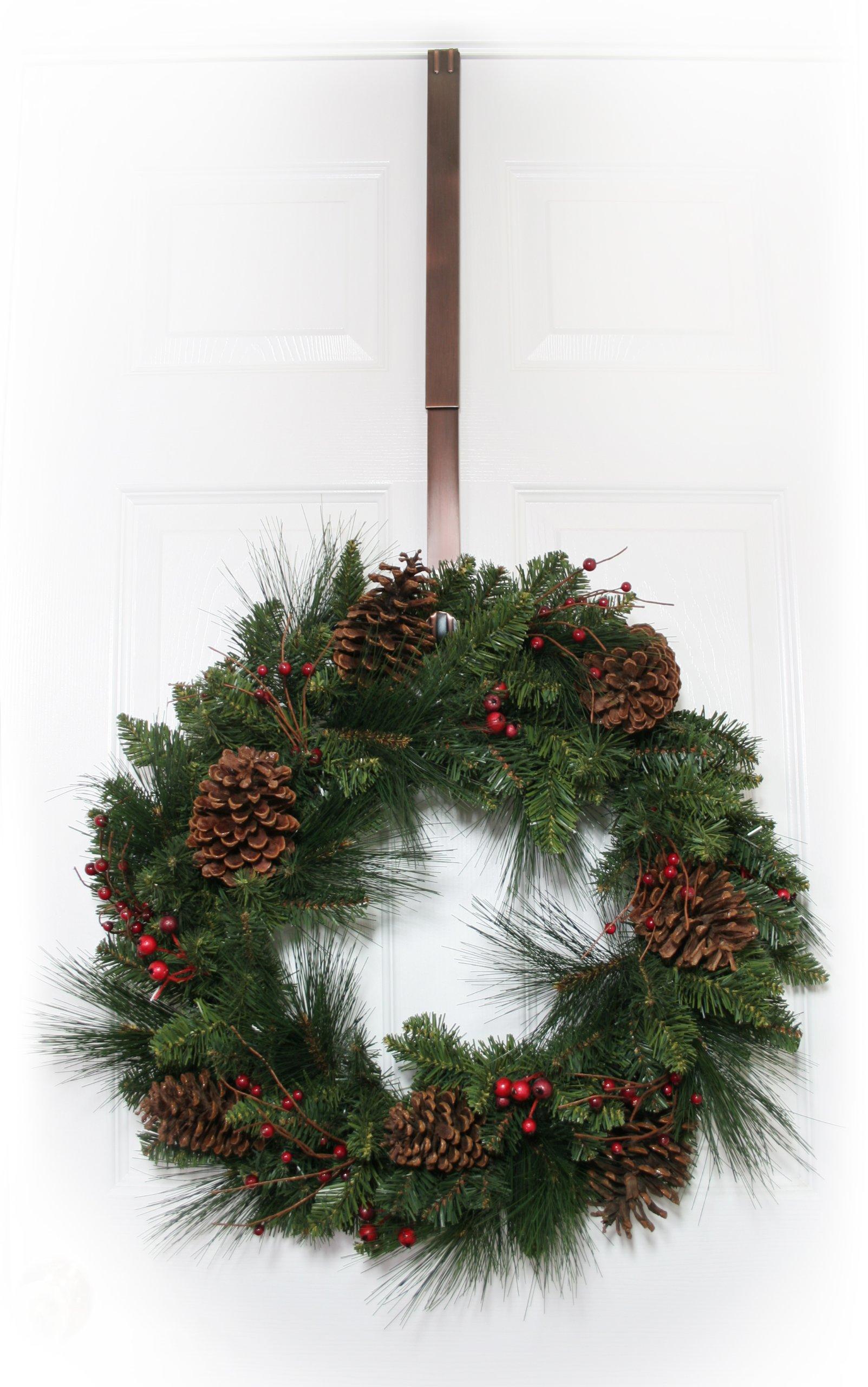 Haute-Decor-Adjustable-Metal-Wreath-Hanger-Oil-Rubbed-Bronze