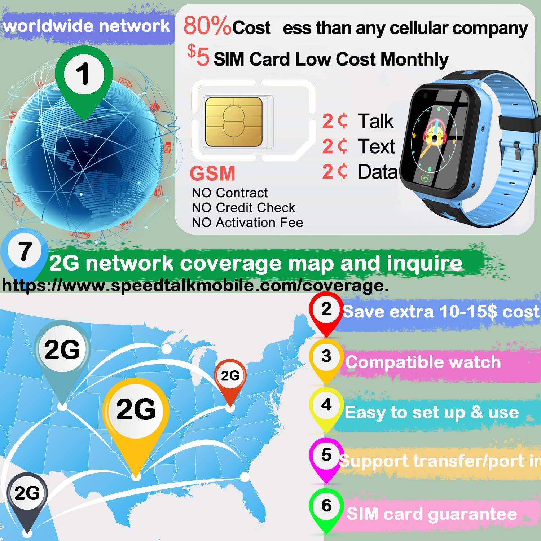 Amazon.com: Kids Smart Watch Phone with Free SIM Card ...