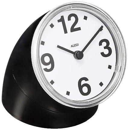 Alessi 01 B Cronotime Orologio da Tavolo in ABS, Nero