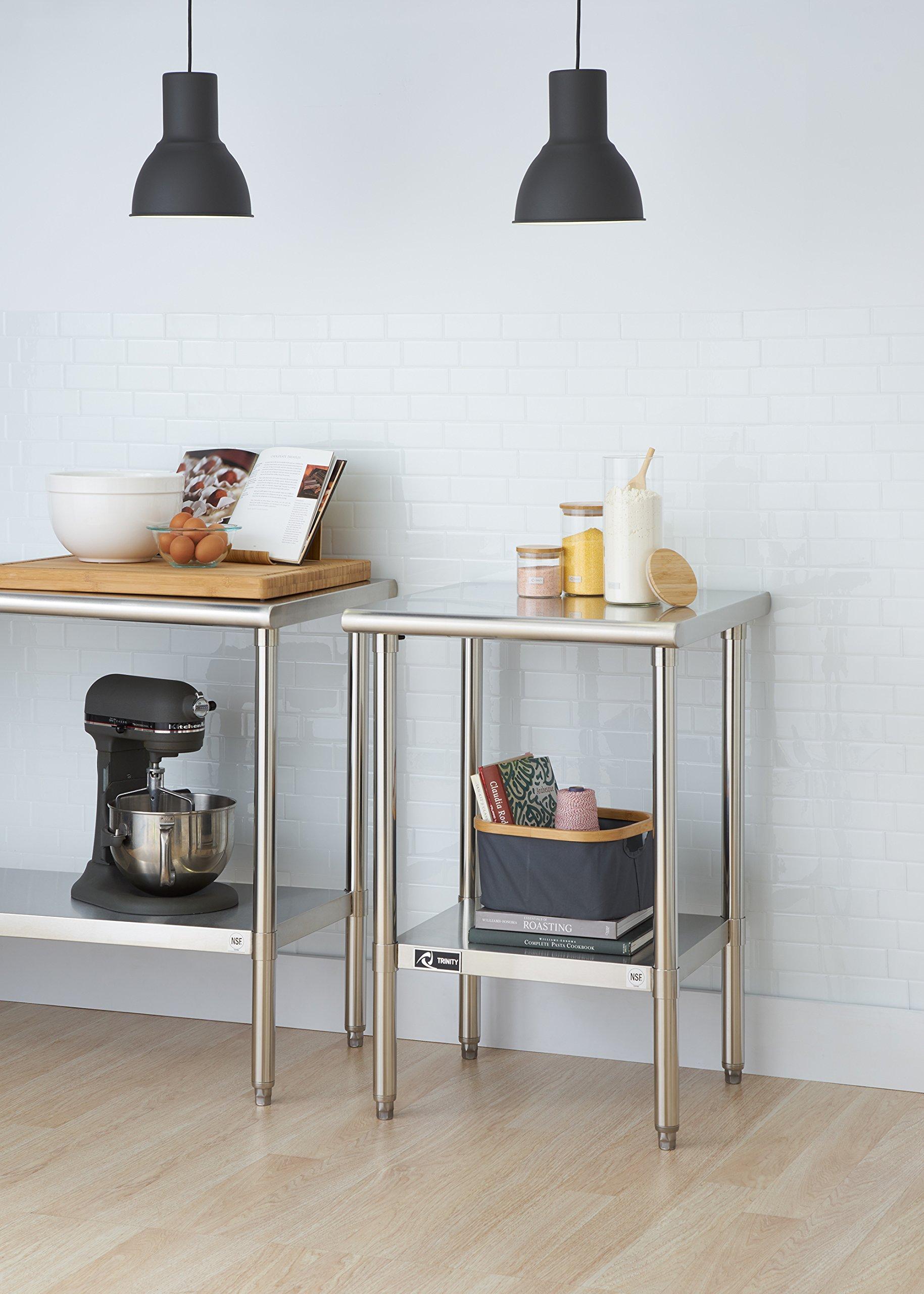 TRINITY EcoStorage NSF Stainless Steel Table, 24-Inch by Trinity (Image #3)