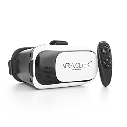 316451b48ffd Virtual Reality Goggles Headset - VR Gear Video Glasses + Wireless  Bluetooth Joystick - Immersive Virtual