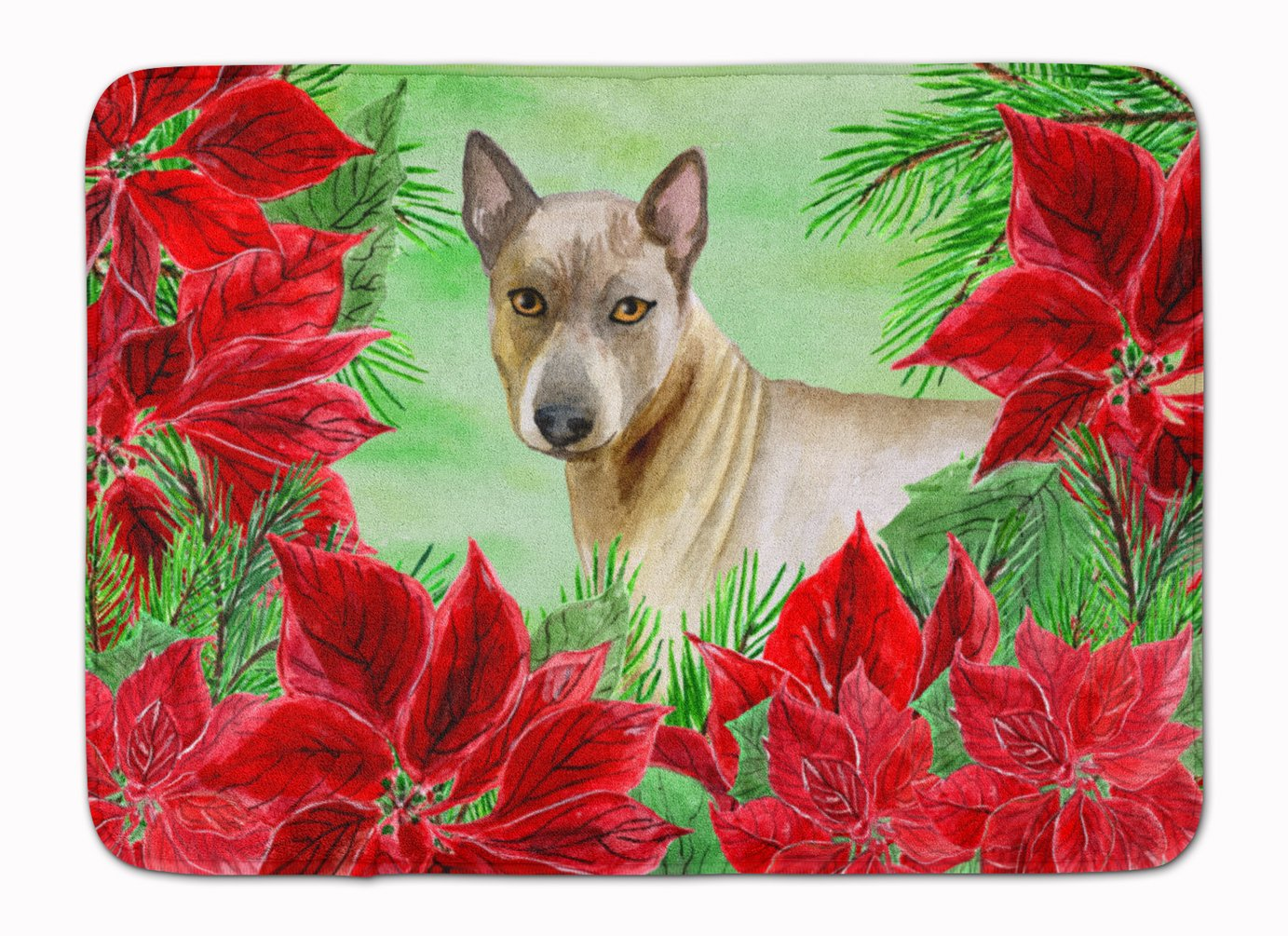 Caroline's Treasures Thai Ridgeback Poinsettias Floor Mat, 19'' x 27'', Multicolor by Caroline's Treasures
