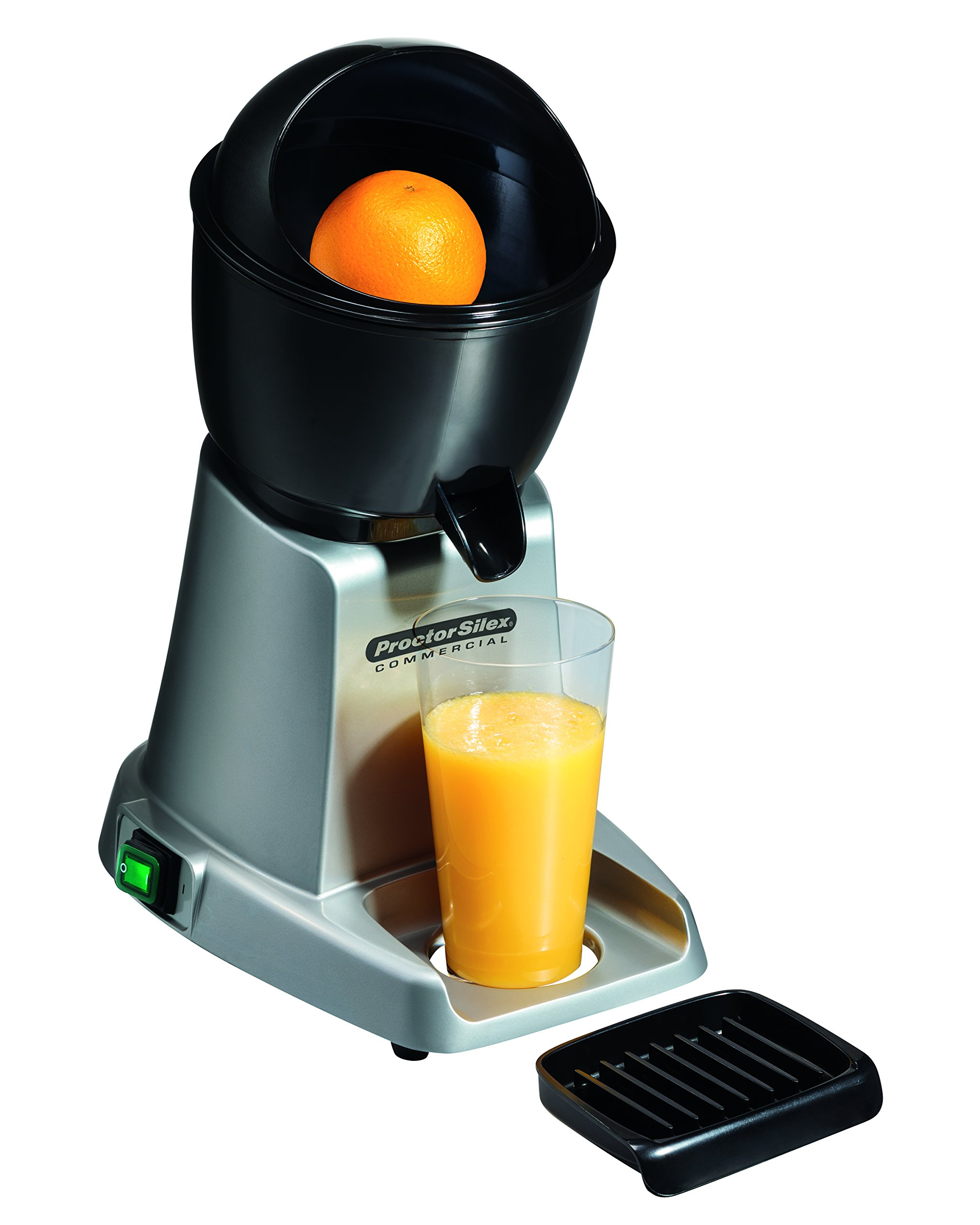 Proctor Silex Commercial 66900 Electric Citrus Juicer, 3 Reamer Sizes for Oranges, Lemons, Limes and Grapefruits, Removable Bowl, Strainer, Splashguard, Drip Tray, Black/Grey by Hamilton Beach (Image #5)