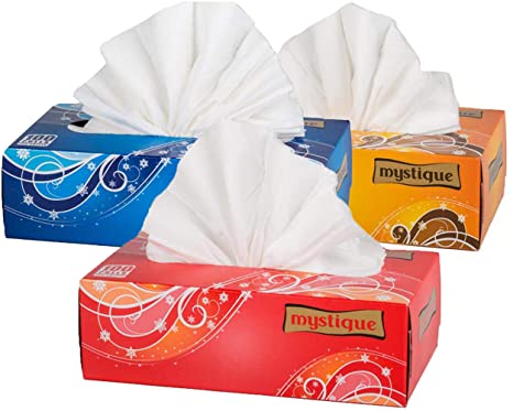 mystique soft 2 ply face tissue 100 pulls pack of 3 amazon in
