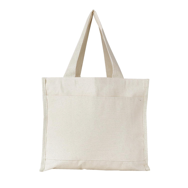 値頃 (6, (6, Natural) - Heavy Canvas Reusable Natural Gussets, Tote Bags with Front Pocket, Side and Bottom Gussets, Fancy Looking Plain Tote Bags, 100% Natural Canvas Strong Wholesale Tote Bags by BagzDepot (6, Natural) B06XDXDS9P ナチュラル ナチュラル|12, ワイシャツのLABORNE - ラボーネ -:d2ddf79c --- diesel-motor.pl