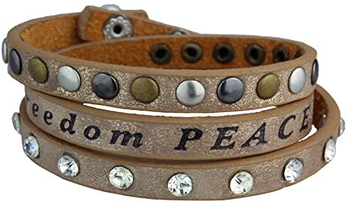 Vintage Nieten Armband mit Strass und Nieten Kunstleder Armband
