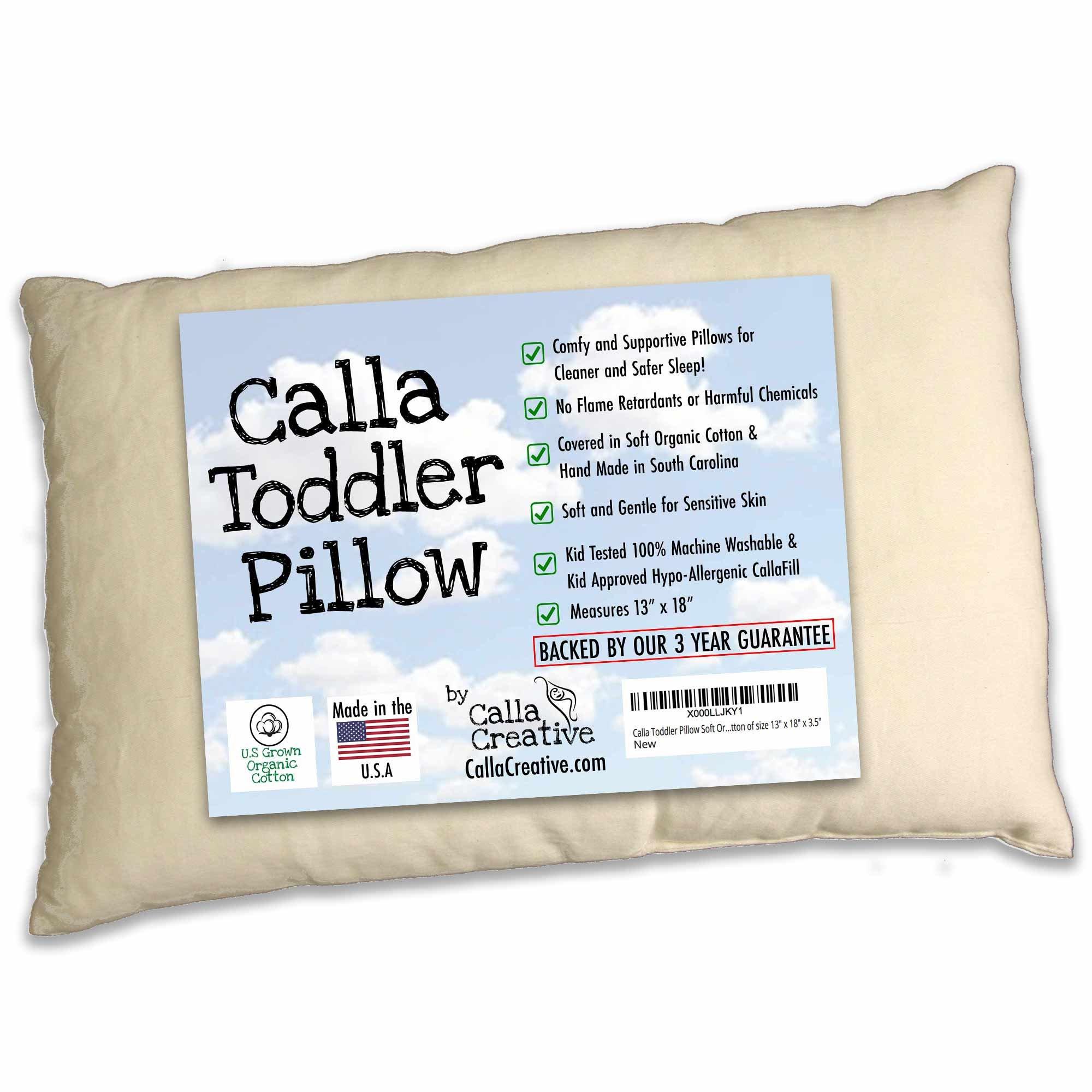 Calla Toddler Pillow Soft Organic Cotton of size 13'' x 18'' x 3.5'' by Calla Creative (Image #1)