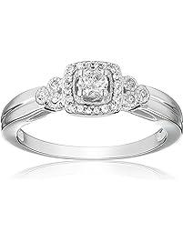 10k White Gold Diamond Engagement Ring (0.25 cttw, I-J Color, I2-I3 Clarity)