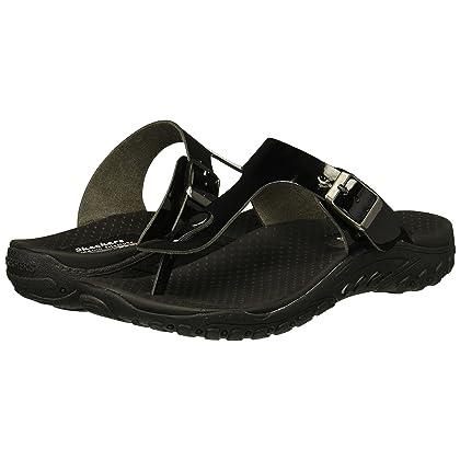 582312245edb Skechers Women s Reggae-Key WEST-Buckle Thong Slide Sandal