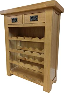 Furniture Octopus Kingsford Chunky Oak Small Wine Rack  sc 1 st  Amazon UK : small wine cabinet - Cheerinfomania.Com