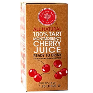 Cherry Bay Orchards - 100% Montmorency Tart Cherry Juice | 59 oz bag in a box | Not from concentrate | All Natural Ingredients, Gluten Free, GMO Free, Natural Antioxidants, No Added Sugar