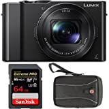 Panasonic LUMIX DMC-LX10K Digitral Camera with 64GB SD Card and Case
