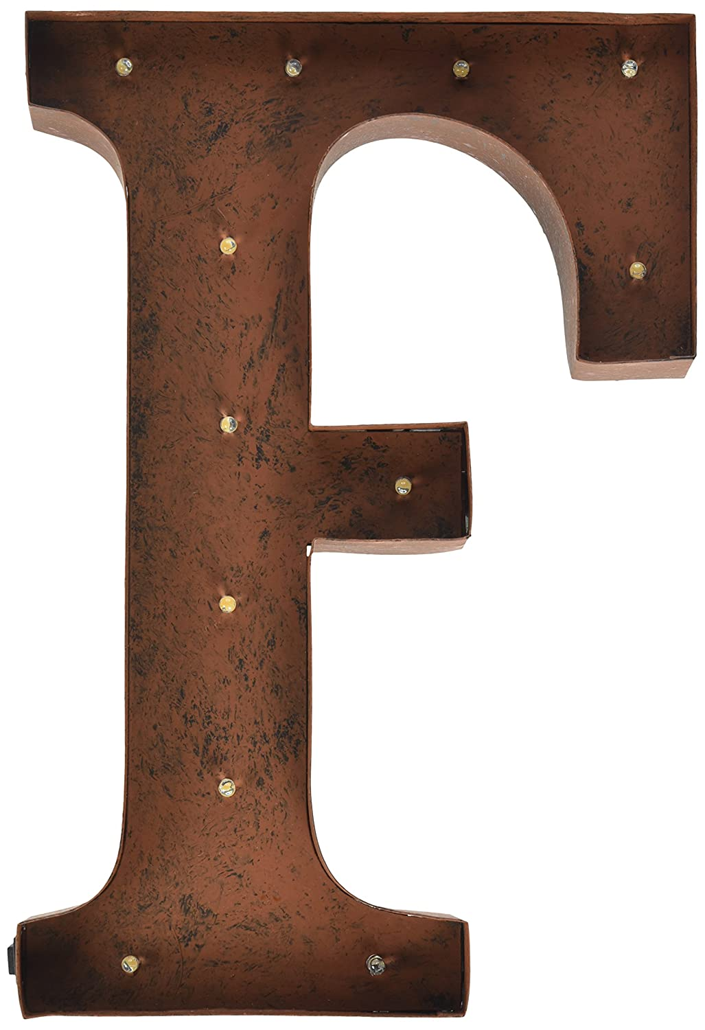 AmazonCom The Gerson Company F Led Lighted Metal Letter With