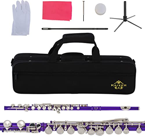 Kaizer Flute C Key Closed Hole Purple Body