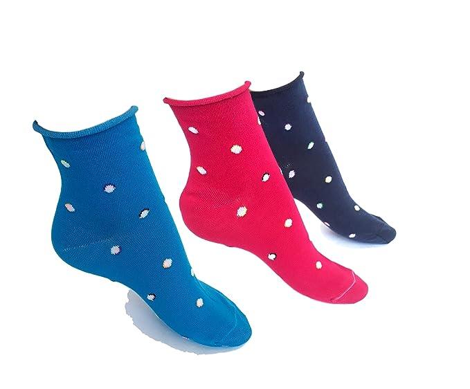 48ced6f020c57a calze college 6 Paia Calzini Corti Donna Cotone Caldo Elasticizzati  Fantasia a Pois senza elastico TG 35/40 (MOD. 1): Amazon.it: Abbigliamento