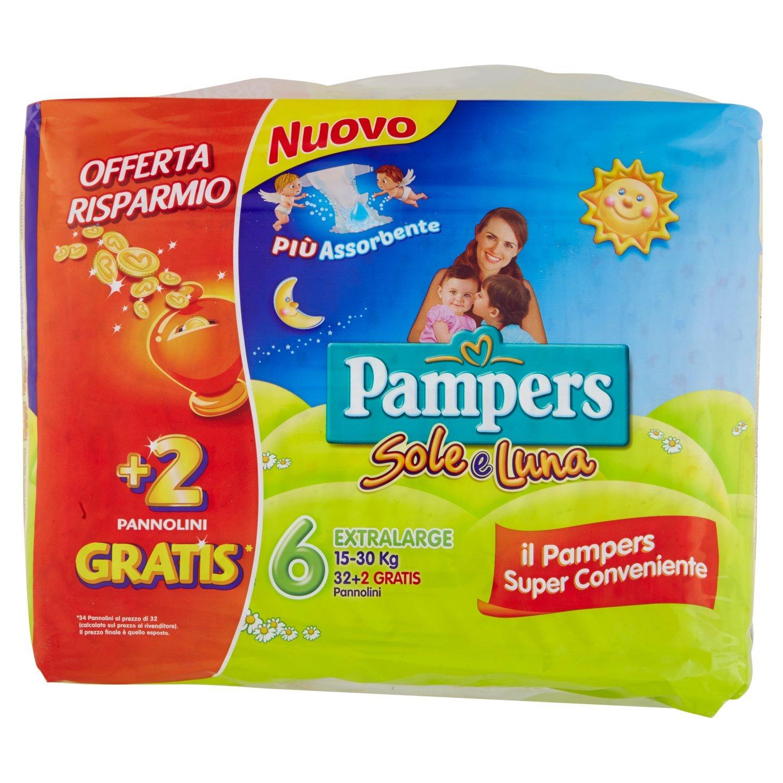Pampers - Sole e Luna - Pañales - Talla 4 (7 - 18 kg) - 18 pañales: Amazon.es: Salud y cuidado personal